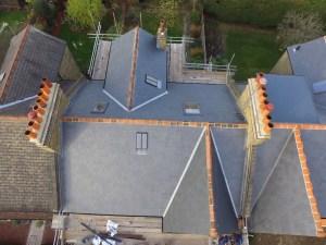 birds eye of roof in Streatham
